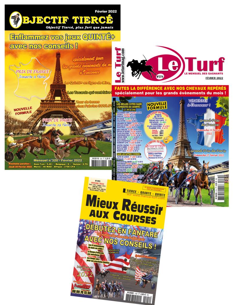 Abonnez vous en ligne à LE TURF et OBJECTIF TIERCE et Profitez de prix EXCLUSIFS sur ce site !